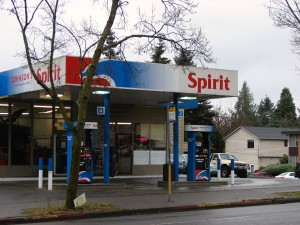 Spirit gas station 9500 35th Ave NE.December 2017