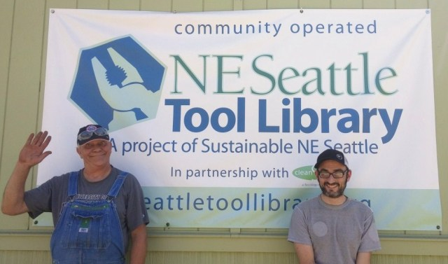 Tool Library new coordinators Chris and Mike.June 2016