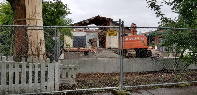 Decatur Annex demolition looking westward.July 10 2019
