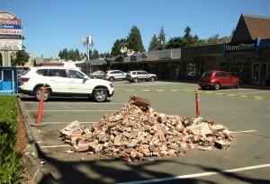 Gateposts pile of bricks.25 July 2020