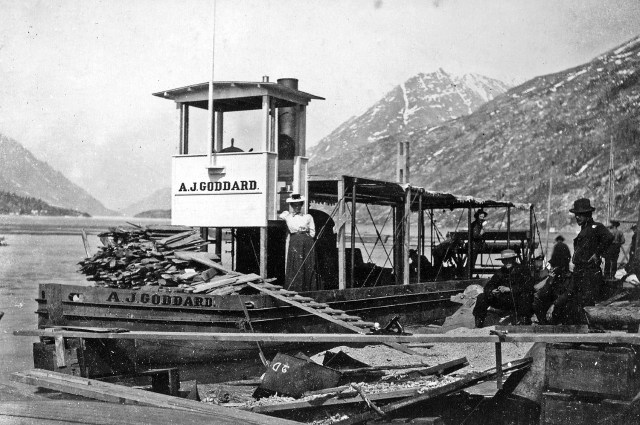 Goddard steamship in Yukon.courtesy of Goddard family