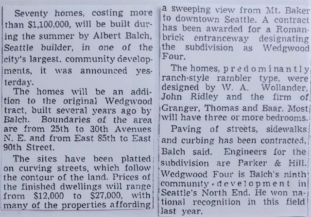 Wedgwood #4 plat.Seattle Times 10 June 1951 page 46